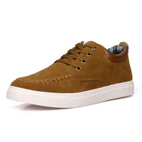 Free shipping New Fashion daily casual sneaker shoes for men Height Increasing Nubuck Leather shoes male skateboarding shoes