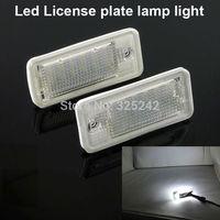 Excellent Ultra bright 3528 Epistar Led License plate lamp light for Audi A3 S3 A4 S4 A6 C6 S6 A8 S8(D3) Q7 RS4 RS6,No OBC error