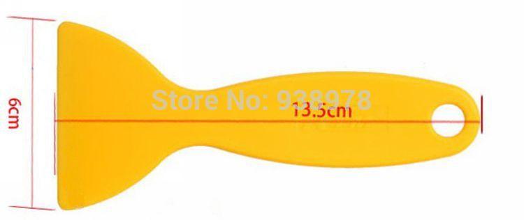 10pcs/lot ABS Plastic Film Scraper Tools Yellow Scraper shovels For Car vinyl Film sticker wrapping size 13.5cm*6cm(China (Mainland))