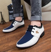 2014 top quality men genuine leather shoes summer Breathable wedges casual sneakers summer autumn  men business shoes