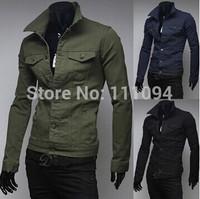 Men's clothing base Men's clothing jacket male fashion jacket male solid color jacket men's clothing 3 color
