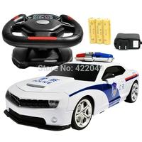 Double steering wheel remote control car bumblebee remote control car sports car charge police car