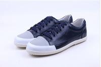 Free shipping new 100% genuine leather loafers flip flops femininas casual men platform brand fashion designer men shoes