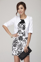 OL commuter temperament of han edition cultivate one's morality short sleeve professional female skirt outfit 8137