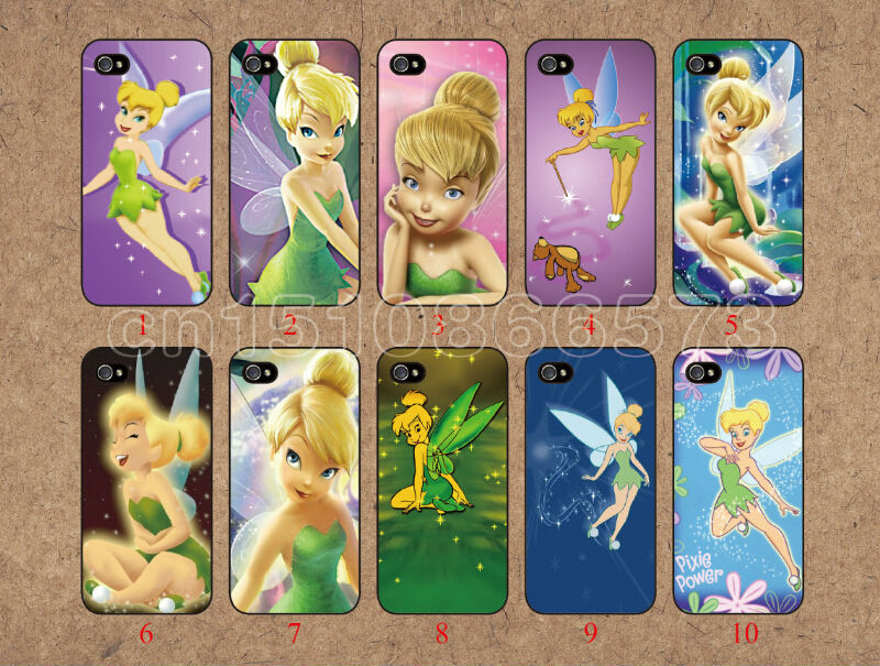 2014 new Colorful Tinkerbell Tink 10pcs/Lot PC hard luxury cover case for iPhone 5 5s Apple 1 piece free shipping,cell phones(China (Mainland))