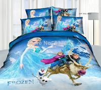 Frozen Bed Set Princess Elsa Quilt Cover Frozen Bedding Sets Frozen Bed Sheet + Frozen Pillow Cover