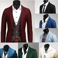2014 New Autumn 2015 Spring Plus Size 3XL Suits Men Multicolor Blazer Men Blazers