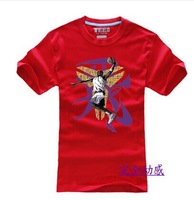 HOT male basketball clothes cotton half sleeve t-shirts with short sleeves
