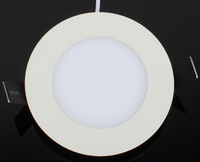 Free Shipping White Plating 3W LED Panel Light 70-80mm Cutout 300Lumens 85-265V AC CE SAA UL Approved