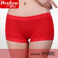 Free shipping1405 wholesale women's underwear low-waist cotton lady Seamless modal boxer briefs Ms. belts