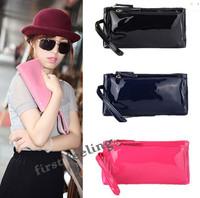 Newest European Fashion Glossy Leather Day clutch Women Party Handbags Trendy Lady Wrist Bag Purse BB0938