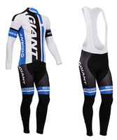 Free shipping !2014 Giant Cycling Jersey Long sleeve and bicycle bib Pants / ropa ciclismo clothing MTB C043