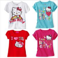 New 2014 Baby Girls Frozen Elsa Anna Girl T Shirt Kids Short Sleeve T-shirt Children Frozen lace t Shirt kids wear