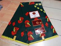Free shipping Guaranteed dutch wax african super wax hollandais 2014 new designer african fabric 6yard/pcs wax DSC07220 BLACK