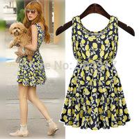 2014 Summer New Women European and American style Sleeveless Floral vest elastic waist plus size summer dress