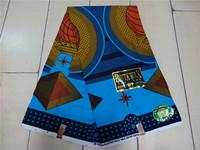Free Shipping (6 yards/lot) 100% cotton African wax prints fabric super wax hollandais African Fabric Real Wax Print S07152