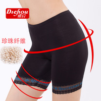 Free shipping66,571 wholesale pearl fiber female boxer briefs Ms. Boxer Shorts underwear pants anti emptied