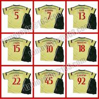 2014-15 AC Milan Yellow Third Jersey  soccer jerseys kids soccer jerseys children, EL SHAARAWY # 92, BALOTELLI # 45
