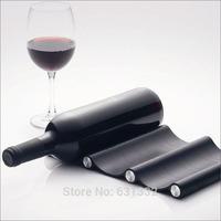Free Shipping Soft triple wave Wine rack,Portable folding wine bottle holder