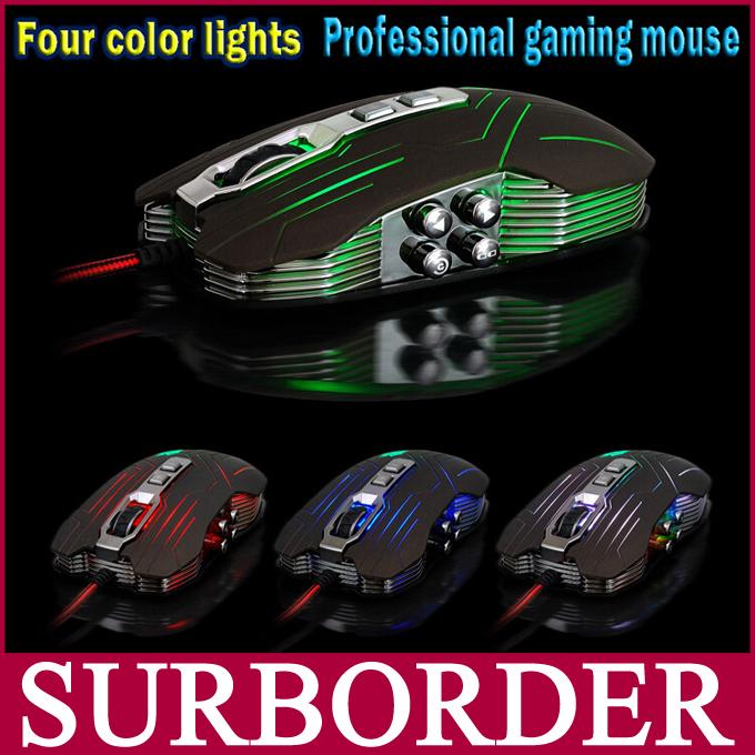 Компьютерная мышка Suzaku USB 3D 9 800 1200/1600/2400 DPI BV-303