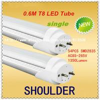 FedEX FreeShipping 15PCS/lot LED Tube T8 600mm 12W AC85V-265V LED Lamp 54pcs 2835SMD lights & lighting1350lm Living Room Bedroom