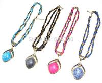 HX1071 New arrivals Bohemia style antique beads jewelry fashion lady's vintage pendant necklaces 15 colors available 12pcs/lot