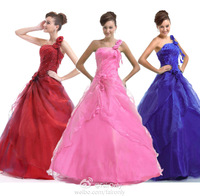2014 FairOnly In Stock Appliqued Sequined One Shoulder Prom Gown Formal Dress Evening Party Dresses