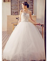 Free shipping,Romantic and sweet  latest wedding bride's dress