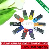 Real capacity Mini foldable metal U Disk 1GB/2GB/4GB/8GB/16GB/32GB/ 64GB/128GB Computer Accessories USB Flash Drive Pen Drive