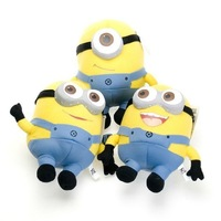 30CM Despicable ME Minion Cartoon Movie Plush Stuffed Toys 3D Eyes 12 Inch Children Dolls 3 Designs Assorted