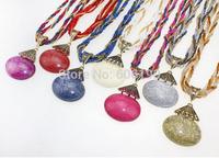 HX1073 High quality Bohemia style antique beads jewelry fashion lady's vintage pendant necklaces 15 colors available 12pcs/lot