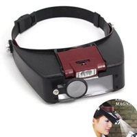 2014 New Arrival Handfree Headband Magnifier For Sale/Quality 10X Lighted Magnifying Glass Headset Headband Magnifier
