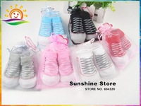 Sunshine Baby #7A5390 6 pair /lot Baby Shoes Socks Crib Walking Socks Toddler Outdoor Booties Kids Accessories Baby Boutique