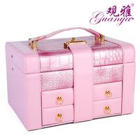 Hot sale women jewelry 2014 dressing case earring organizer box valentine lover gift