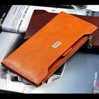 Fashion PU Leather Women Wallet Solid Women Money Bag Brand purse Credit Card Slots Bolsa femininas B253