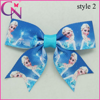 "15 Pcs/lot 3"" Baby Ribbon Hair Bow,Frozen Hair Bow For Baby,Boutique Frozen Hair Bows with clips for girls CNHBW-1407092"