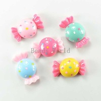 30 Pcs Mixed Candy Resin Flatback Cabochon Scrapbook Embellishment 22x13mm DIY Kid Hair Accessories Jewelry Findings(W03795 X 1)