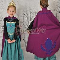 2014  Free Shipping  Movie Frozen  princess Anna Dress Costume for Children Elsa/Anna Kids cosplay Costume