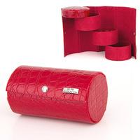 2014 hot fashion jewelry case leisure pu leather beauty box red women wedding gift