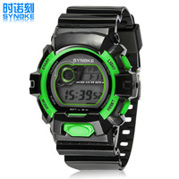 Original SYNOKE Men Sports Watches Male Dress Clock 5ATM Dive Swim Fashion Digital Watch Military Multifunctional Wristwatches