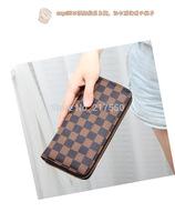 2014 hot sale men wallet !!Male  Casual plaid long Design catch Wallet, Card holder Zipper pocket Fashion Purse for men