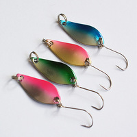 Free shipping! 10pcs/lot 2.5g multicolored simulation fish metal sequins hard bait fishing lure with single hook