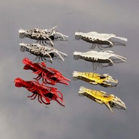 Free shipping! 20pcs/lot 4 cm 1.2 g silicon simulation transparent shrimp soft bait fishing lures