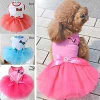 dreambows Lovely Dog bow tutu skirt #dd1009 Pet Wedding Dresses Free shipping!