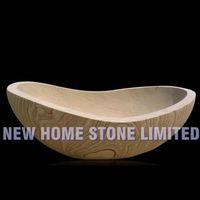 yellow river veins sandstone freestanding stone baths bathtub