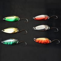 Free shipping! 10pcs/lot 3.5g metal sequins simulation fish hard bait fishing lures with single hook wholesale!