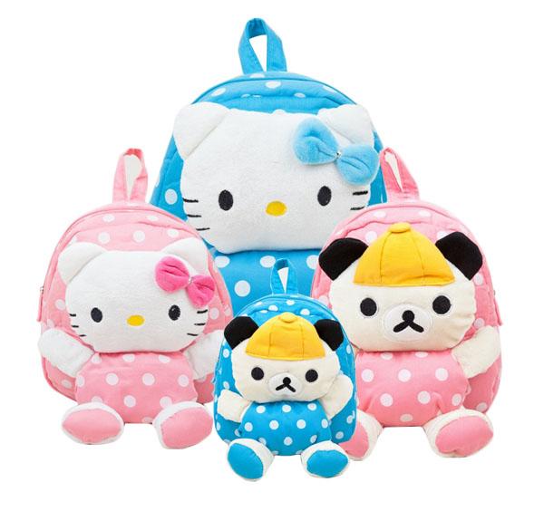 neue ankunft kinder plüsch taschen kinder rucksack kinder schultaschen hallo kitty taschen für Kindergarten mädchen baby