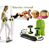 Free Shipping 24pcs/lot REVOFLEX XTREME As Seen On TV Resistance Exerciser Double AB Wheel&Exercise AB Wheel with Retail Package