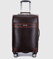 Paul trolley luggage leather commercial Spinner wheels luggage travel bag luggage