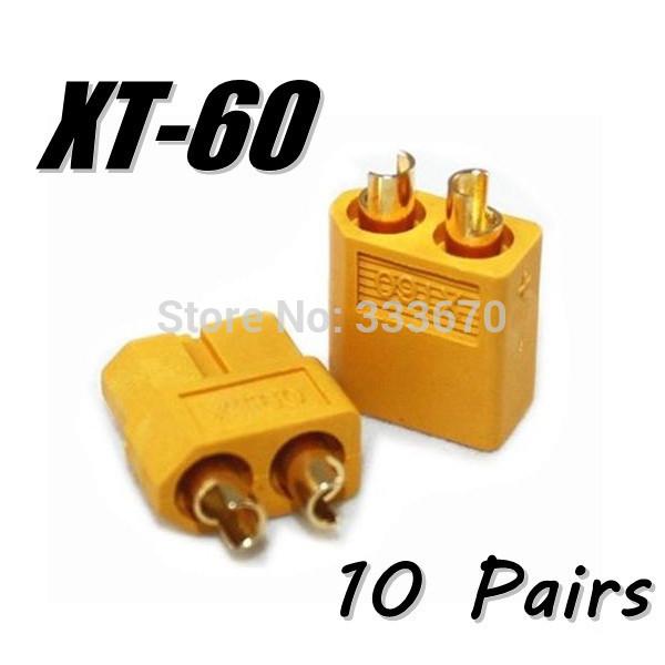 Atacado 10 pares de XT60 XT-60 masculino feminino bala conectores Plugs par